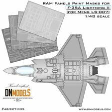 DN 1/48 F-35A Lightning II RAM Panels Paint Masks for Meng Model #LS-007/LS-008