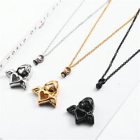 1x Angel Perfume Locket Necklace Cremation Jewelry Funeral Ash Keepsake Necklace