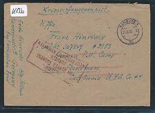 K1330) Kriegsgefangenenpost Brf ab Hamburg 29.6.46 > Camp Stoneman Ra4 Return
