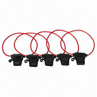 10pc Standard Blade Fuse Holder Waterproof 20A 12V DC AWG Cable In Line Car Auto
