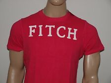 Abercrombie & Fitch Stitched Logo Muscle T Shirt Pink NWT