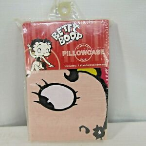 Betty Boop Standard Single Pillowcase Red Pink Yellow Black Jay Franco