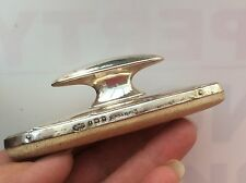 LOVELY MAPPIN & WEBB VICTORIAN NAIL BUFFER FOR DRESSING TABLE SILVER TOPPED