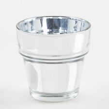 "Eastland Glass Votive Holder Mirrored Flower Pot 2.25"" Set of 12, Home Decor"