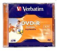 2 Verbatim DVD-R Inkjet Printable 16x 4.7GB Jewel Case Standard 43521