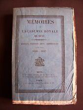 Mémoires de l'académie royale de Metz 1836-1837