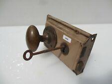 Antique Iron Door Lock Brass Knobs Handles Vintage Old Bolt Bronze Key