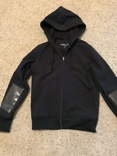 Hoodie - Black Aviator 2 Colby Kane Hands Free  - Size M All Weather Fleece