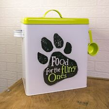 Bright Side Food for the Furry One Paw Storage Biscuit Cat Dog Tin Box Home Gift