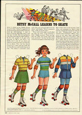 1980 vintage magazine paper doll, Betsy McCall learns to skate  -061512