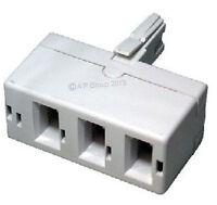BT triple telephone Phone socket 3 way Adapter Splitter