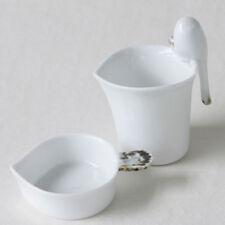 Set de Porcelaine Blanche Passoire Coupelle Thé Collection INFUSEUR + SOUCOUPE
