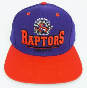 TORONTO RAPTORS NBA VINTAGE STYLE SNAPBACK FLAT BILL RETRO 2-TONE CAP HAT NEW 3D