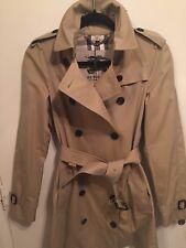 BURBERRY WOMEN'S HERITAGE Trench Coat Vêtements de pluie Taille UK 6 Miel NEUF