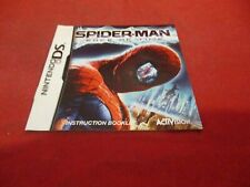 Spider-man Edge of Time Nintendo DS Instruction Manual Booklet ONLY
