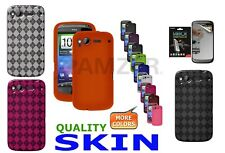 AMZER Soft Skin Jelly TPU Gloss Case Cover For HTC Desire S HD Screen Protector