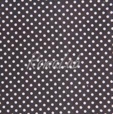 STOFFA 150 x 100 CM PER CUCITO creativo patchwork SCRAPBOOKING nero a pois