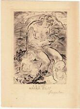 Exlibris Ex Libris Acquaforte Michel Fingesten 1884-1943 Mutter Bambini