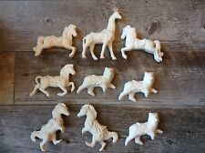"""Huge Lot Ceramic Unfinished Bisque Ready-to-Paint Carousel Animals Ornaments 6"""""""