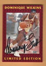 DOMINIQUE WILKINS 1992 FLEER  LIMITED EDITION AUTOGRAPH CARD #8 OF 12