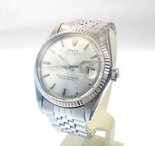 Rolex Datejust 36 OYSTER PERPETUAL CRONOMETRO IN ACCIAIO INOX - - Oro bianco lunetta fissa