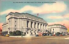 SAN FRANCISCO, CA California   WAR MEMORIAL~Opera House~CIVIC CENTER  c1940's