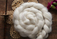 ALPACA Natural White Ecru Combed Top Roving Undyed Luxury Fiber for Spinning 4oz