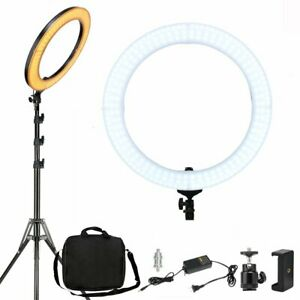 """ZOMEI 18"""" Dimmable Diva LED Ring Light Kit Diffuser w/ Stand Photo Video  Makeup"""