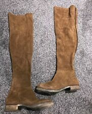 Free People Carlisle OTK Over The Knee Boots Size 36 Brown Suede