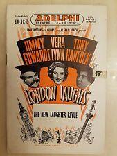 Theatre Programme  LONDON LOUGHS - JIMMY EDWARDS VERA LYNN TONY HANCOCK