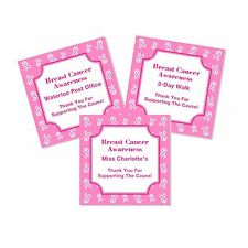 20 Personalized Breast Cancer Awareness Favor Labels Stickers Glossy