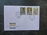 2016 LUXEMBOURG PERSONALITIES SET OF 3 STAMPS FDC FIRST DAY COVER