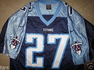 Eddie George #27 Tennessee Titans NFL Nike Jersey M Med Mens