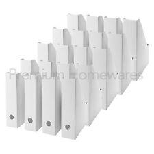 20 x IKEA FLUNS White Magazine Storage Files - Corrugated Board