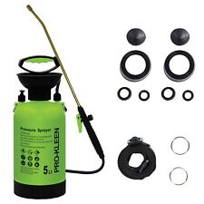 More details for prokleen garden pressure sprayer manual pump action bottle weedkiller water 5l