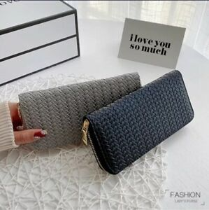 Braided Pattern Women Wallet Purse cards holder with zipper | Bags & Purses |