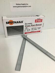 "SPOTNAIL 87002  71 Upholstery staples 3/8"" crown, 1/8"" leg, 10000 pcs/box ,"