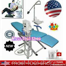 Folding Dental Portable Chair Led Light Turbine Unit Water Supply Weak Suction
