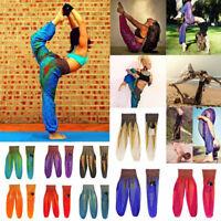 Women Thai Harem Trousers Boho Festival Hippy Smock Casual High Waist Yoga Pants