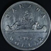 1945 Canadian Silver Dollar - Canada Key Date
