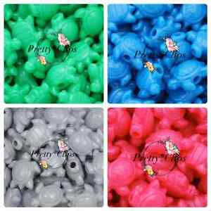 4 For 3 Sea Turtle Pony Beads 6x 23mm Craft