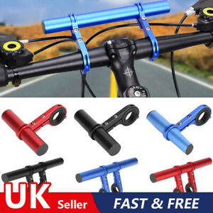 UK Handlebar Extension Bicycle Mount Bike Bracket Extender Holders Handle Bar