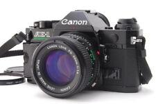 """Mint"" Canon AE-1 Program Black Film Camera Body w/ NFD 50mm F/1.4 Lens D201"
