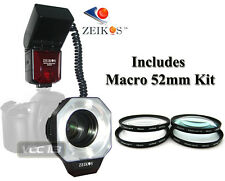 Dedicated ITTL Macro Ring Flash+4 Macro Filter FOR NIKON D3200 D3300 D5500 D5300