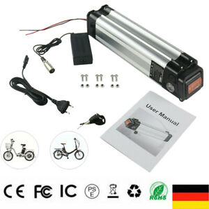 E-Bike Akku 24V 10Ah 250W Fahrrad Li-ion Batterie Elektrofahrrad 2A Ladegerät