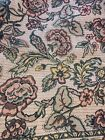 Vtg Large Rectangular HEAVY Woven Tapestry Floral TABLECLOTH 90x130 inches 1925