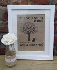 Cockapoo Dog Framed Wall Art/Hand Crafted/Gift/Dog Lovers/Christmas Gift