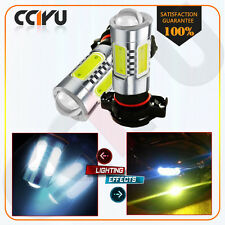 2X 5202 H16 PS24W COB High Power 80W White 6000k Fog/Driving Light Projector LED