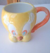 Vtg Looney Tunes - TWEETY Bird - Handmade - Collectible Mug/Cup