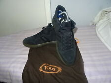 MENS TOD'S Made in Italy Navy Suede Leather Lace-up Sneakers SZ UK 7 Great Cond
